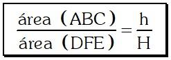 Formulación Teorema 2 para Relacionar las Áreas de Dos Triángulos