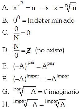 Formulas Expresiones con un Numero Limitado de Radicales