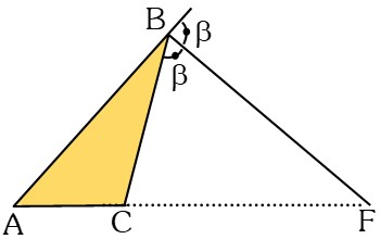 Líneas Notables de un Triángulo Bisectriz Exterior