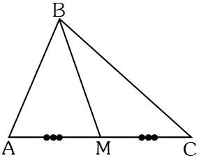 Líneas Notables de un Triángulo Mediana