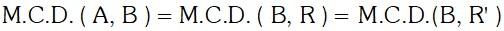 M.C.D. de dos Números por Divisiones Sucesivas