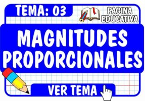 Magnitudes Proporcionales