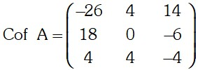 Matriz de Cofactores 1 de Adjunta de una Matriz