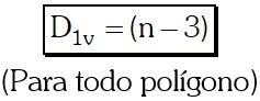 Número de Diagonales Trazadas desde un solo vértice