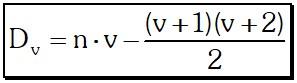 Número de Diagonales trazadas desde Vértices consecutivos