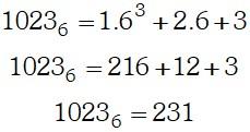 Proceso Ejemplo 1 de Sistemas de Numeración