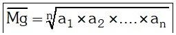 Promedio Geométrico o Media Geométrica