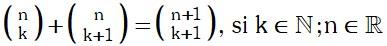 Propiedad 5 de Coeficientes Binomiales