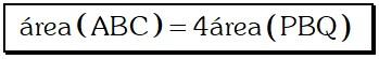 Propiedad Cuadruplo del Área del Triángulo