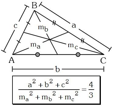 Relación entre medianas y lados de un triángulo cualesquiera