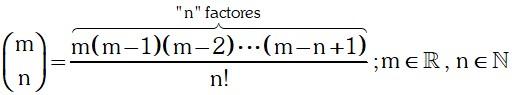 Representacion de El Coeficiente Binomial