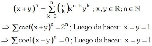 Resolucion Teorema del Binomio de Newton