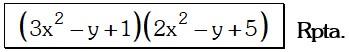 Respuesta 3 de Factorizacion por Aspa Doble