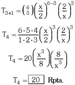 Respuesta 6 de Binomio de Newton