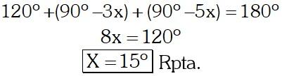 Respuesta Ejemplo 1 de Ángulos Formados por dos Rectas