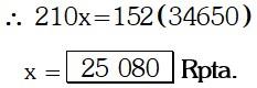 Respuesta Ejemplo 1 de Regla de Tres Simple y compuesta