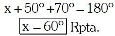 Respuesta Ejemplo 2 de Ángulos Formados por dos Rectas