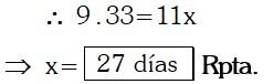 Respuesta Ejemplo 2 de Regla de Tres Simple y compuesta