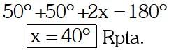 Respuesta Ejemplo 4 de Puntos Notables de un Triángulo