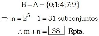 Respuesta Ejemplo 4 de Teoría de Conjuntos