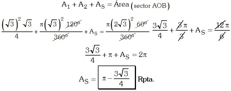 Respuesta Ejercicio 2 de Areas de Regiones Geométricas