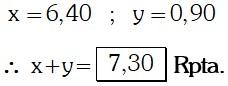 Respuesta Ejercicio 2 de Magnitudes Proporcionales