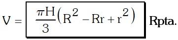 Respuesta Ejercicio 3 de Pirámide y Cono