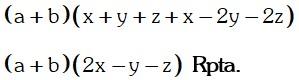 Respuesta de Factor Comun y Agrupacion de Terminos
