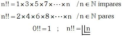 Simbologias Semifactorial de un Numero