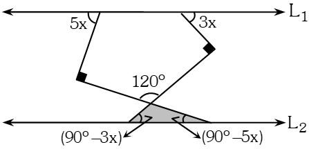 Solucion Ejemplo 1 de Ángulos Formados por dos Rectas