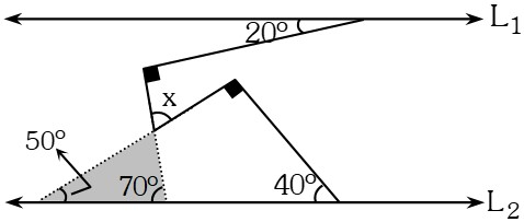 Solución Ejemplo 2 de Ángulos Formados por dos Rectas