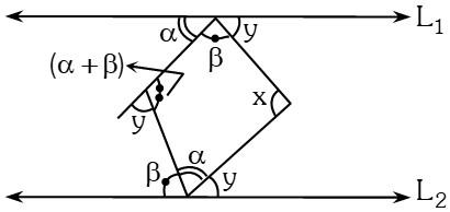 Solución Ejemplo 3 de Ángulos Formados por dos Rectas