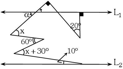 Solución Ejemplo 4 de Ángulos Formados por dos Rectas