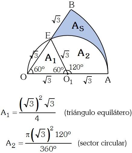 Solución Ejercicio 2 de Areas de Regiones Geométricas