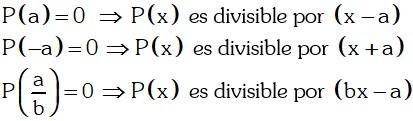 Teorema 2 Divisibilidad de Polinomios