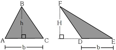 Teorema 2 para Relacionar las Áreas de Dos Triángulos