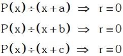 Teorema 3 Divisibilidad de Polinomios