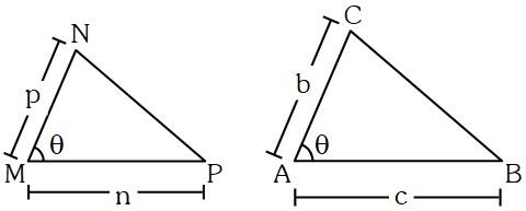 Teorema 3 para Relacionar las Áreas de Dos Triángulos