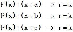 Teorema 4 Divisibilidad de Polinomios