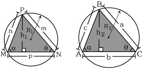 Teorema 4 para Relacionar las Áreas de Dos Triángulos