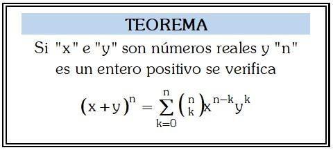 Teorema de Potenciacion