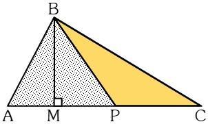 Teoremas para Relacionar las Áreas de Dos Triángulos