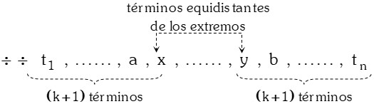 Terminos Equidistantes de los Extremos