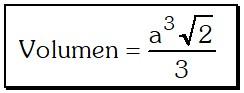 Volumen Octaedro Regular