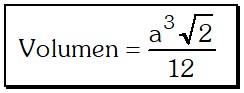 Volumen de un Tetraedro Regular